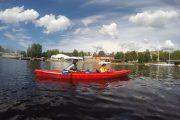 Kayaking in Riga canal