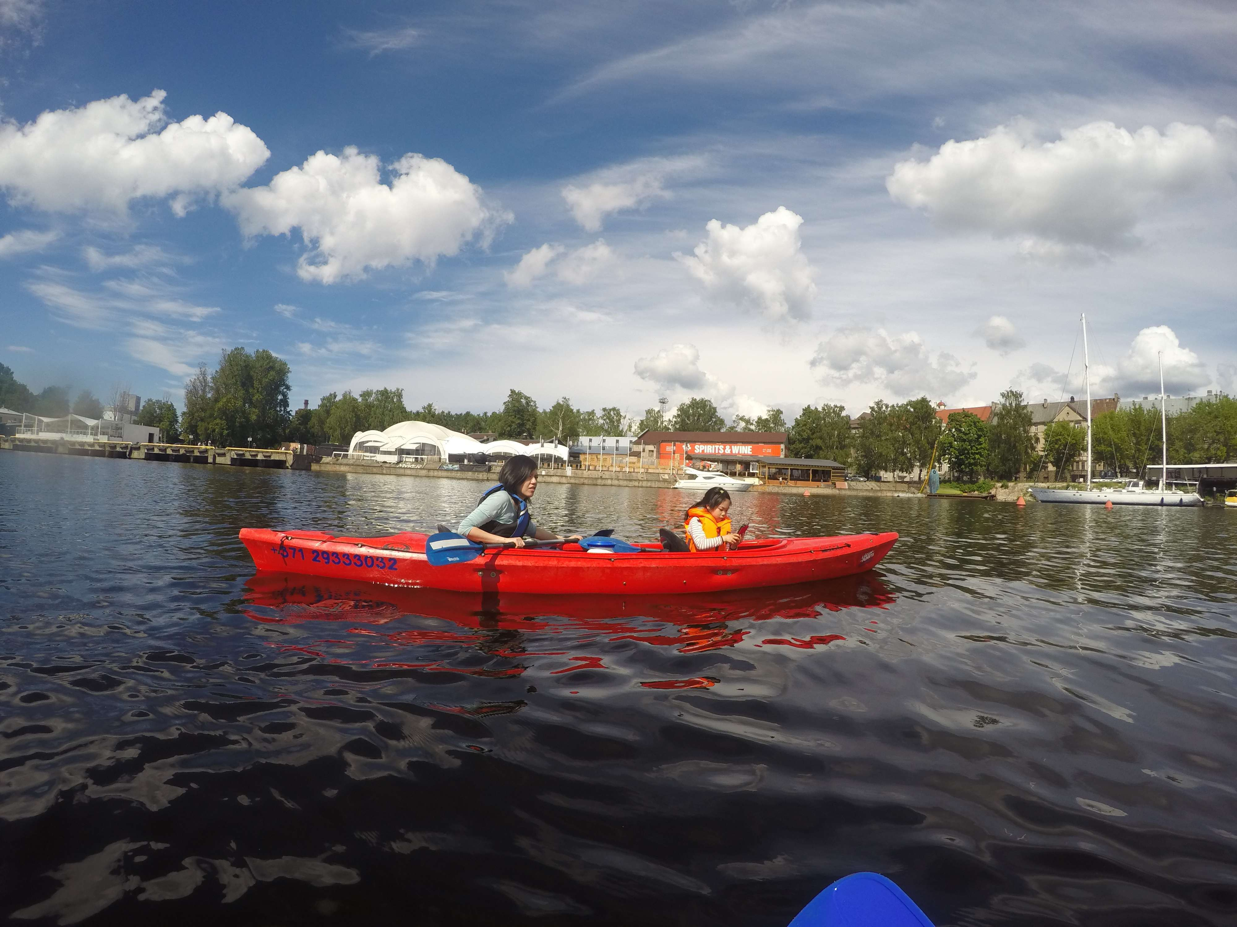 Kayaking in Riga canal