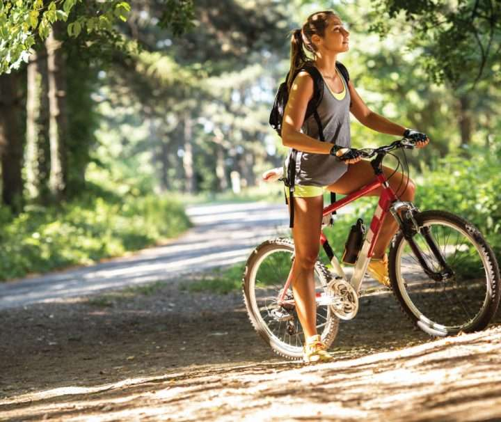 Cycling in Gauja National park