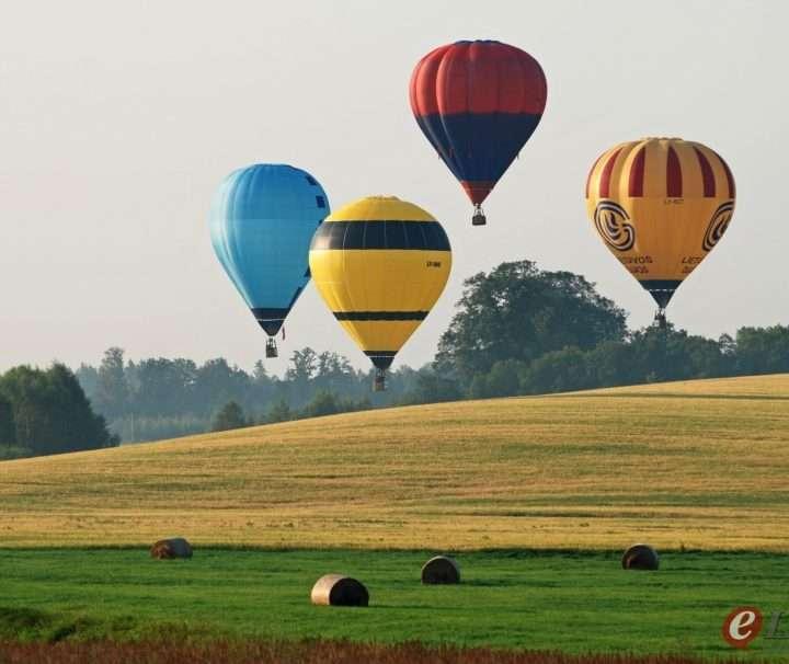hot air ballooning from Riga
