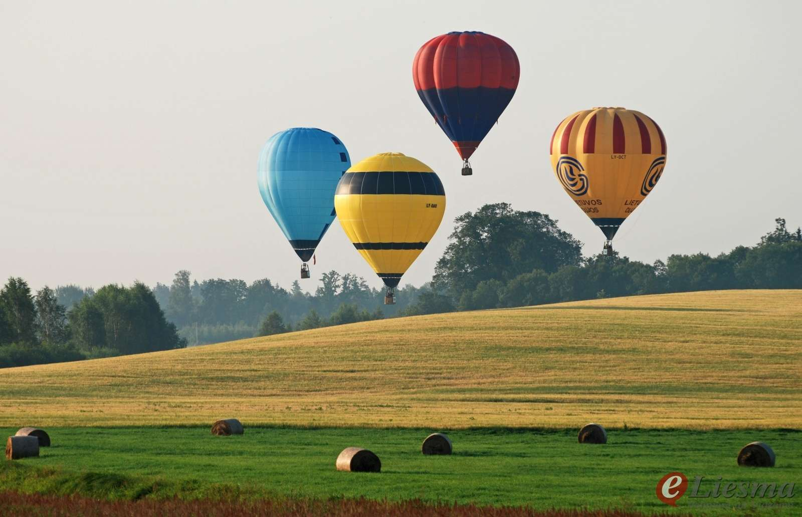 hot air ballooning from Riga
