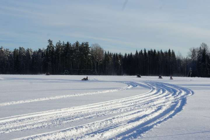Snowmobile safari trip Estonia