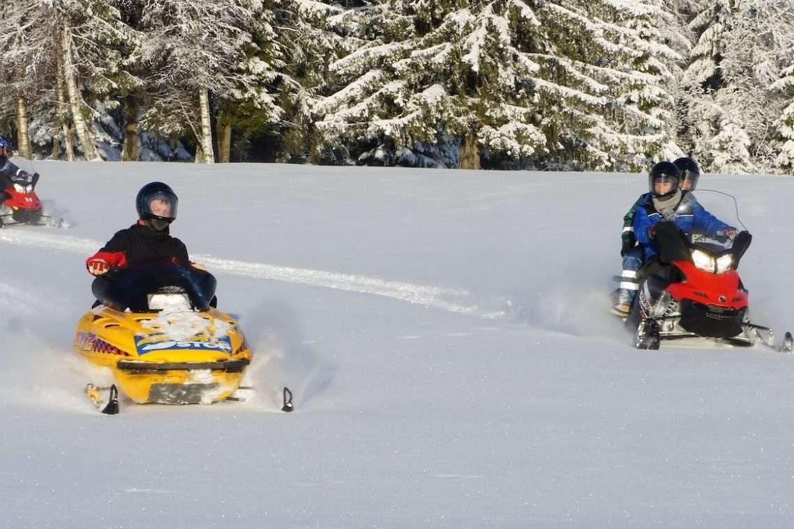 Snowmobile safari trip Estonia
