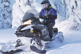 snowmobile safari in Estonia